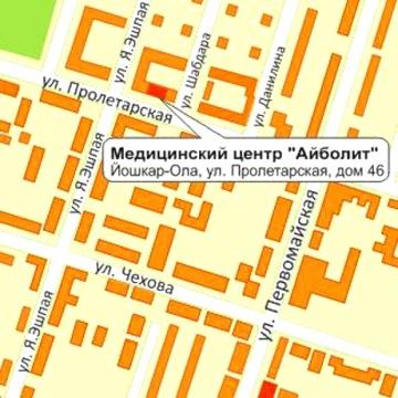Схема проезда Медицинского центра на Пролетарской