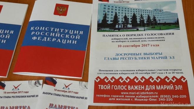 Появились первые предварительные итоги голосования на досрочных выборах Главы РМЭ