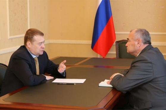 Леонид Маркелов встретился с главой Медведевского района