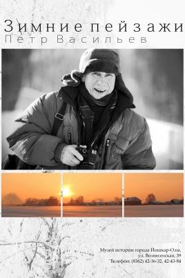 Зимние пейзажи постер
