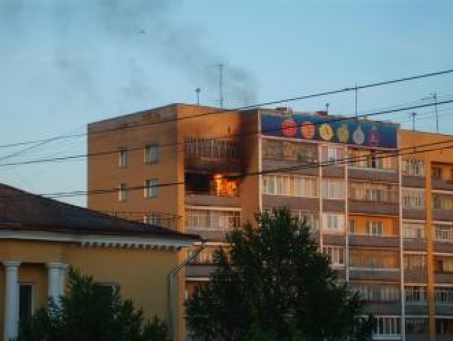 Пожар в жилом доме на проспекте Гагарина (Йошкар-Ола)