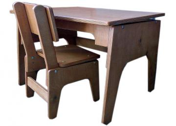 Набор первоклассника: парта и стул по размерам ГОСТ с возможностью регулировки по высоте