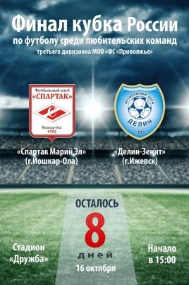 Финал кубка России по футболу постер