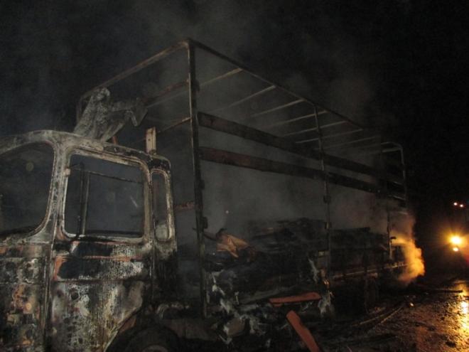 На трассе Зеленый Дол – Йошкар-Ола сгорела грузовая фура