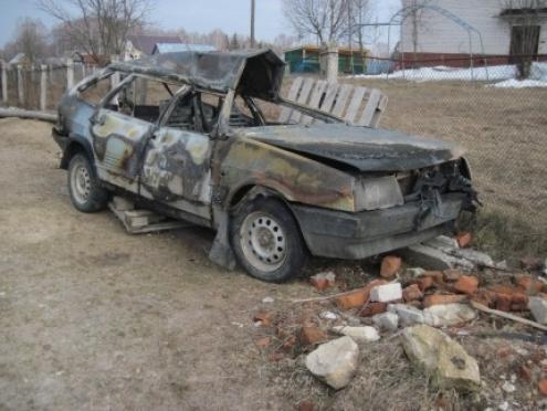 В Моркинском районе автомобиль загорелся на ходу