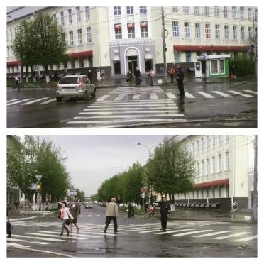 В Йошкар-Оле разметили первый диагональный пешеходный переход