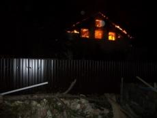 В посёлке Красногорский сгорел четырёхквартирный жилой дом