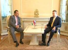 Президент республики Леонид Маркелов встретился с послом Венгерской республики Арпадом Секеем