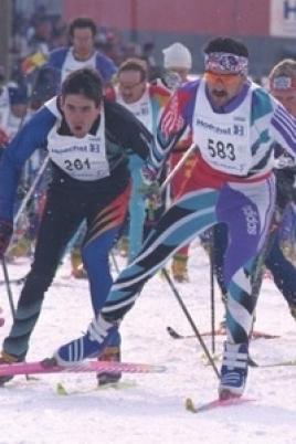 Массовая лыжная гонка «Лыжня Марий Эл- 2015» постер