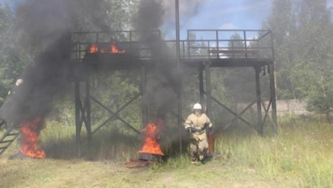 Молодые сотрудники МЧС успешно преодолели огневую психополосу