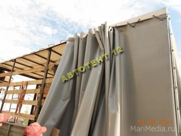 Съёмная крыша с разборными элементами и шторы со  съёмными стойками