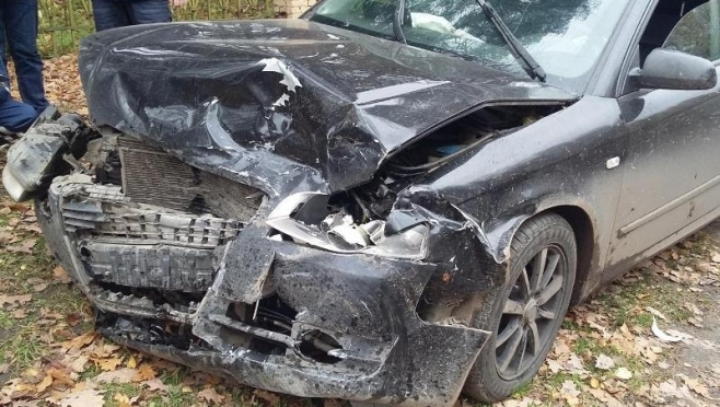 На окраине Йошкар-Олы Lada Kalina не уступила дорогу Audi