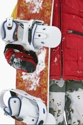 Показательных выступлений по сноуборду постер