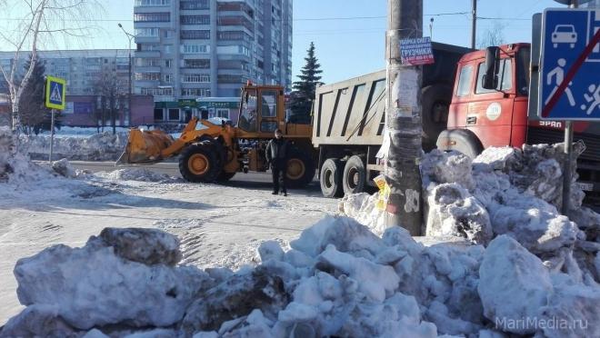 В Йошкар-Оле на снежную свалку вывезено 135 тысяч кубометров снега