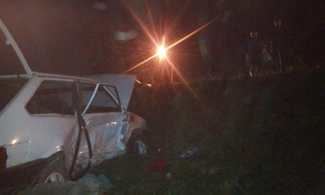 Ночью в Параньгинском районе легковая машина опрокинулась в кювет