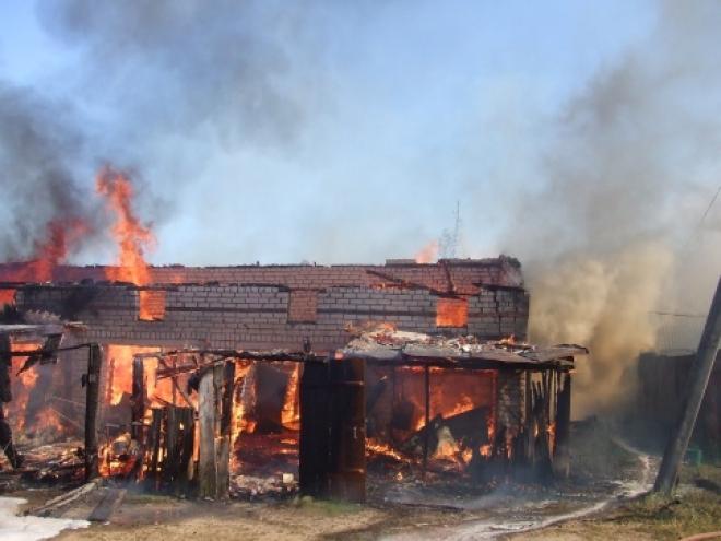 Детская шалось привела к крупному пожару