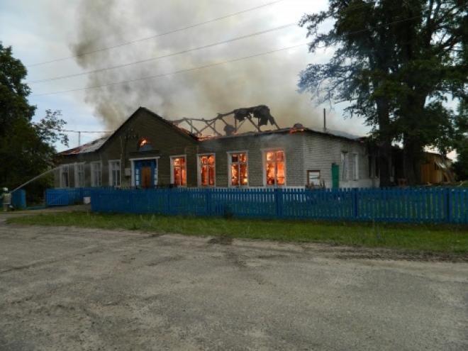В Моркинском районе горел цех по производству травяного чая