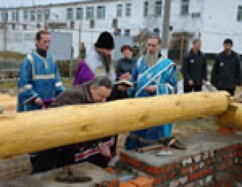 В п. Ясный (Марий Эл) заложили освященный камень в основу православного храма