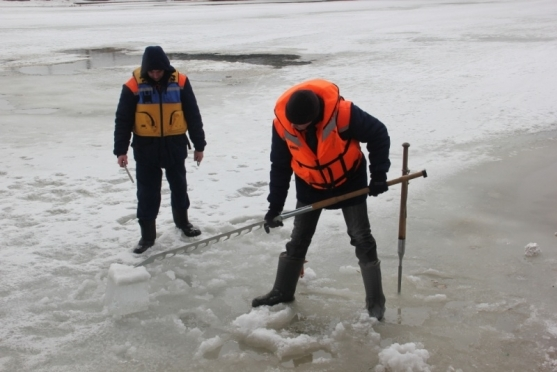 Лёд на реке М. Кокшага потерял монолитную структуру