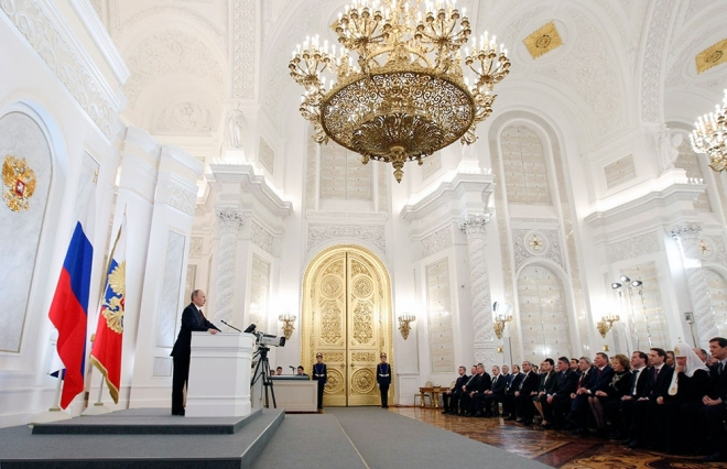 Леонид Маркелов принял участие в церемонии оглашения ежегодного Послания президента