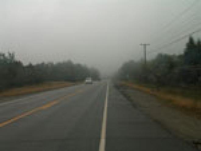 Утренний туман в столице Марий Эл не вызвал паники у автомобилистов