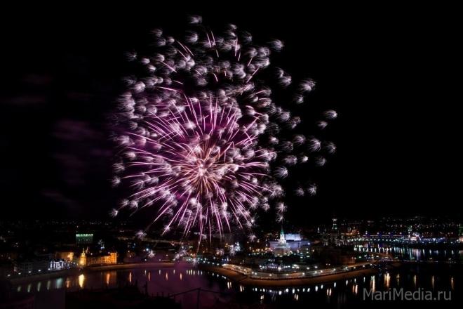 Сегодня небо Йошкар-Олы озарят сотни залпов фейерверков