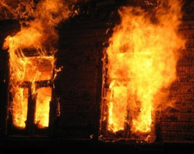 В Моркинском районе сгорел двухэтажный дом