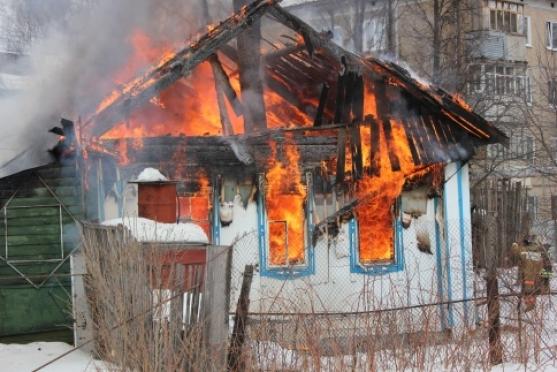 В Йошкар-Оле сгорел частный дом
