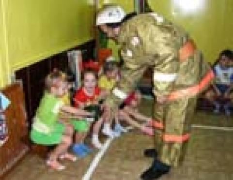 Дошкольники Йошкар-Олы изучают правила поведения на пожарах