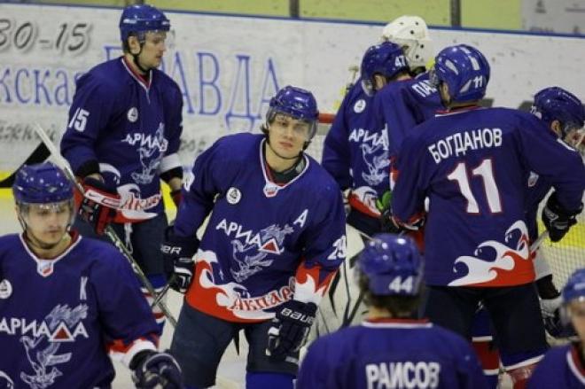 «Ариаде» хватило 78 секунд, чтобы проиграть очередной матч чемпионата ВХЛ