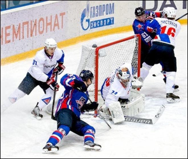 «Ариада», ведя по ходу матча со «СКА-Карелия» 4:1, в итоге проиграла в овертайме