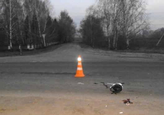 Пьяный мотоциклист опрокинул в Волжском районе своего двухколесного «друга»