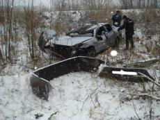 В Волжском районе иномарка перевернулась в кювет — погиб пятилетний мальчик