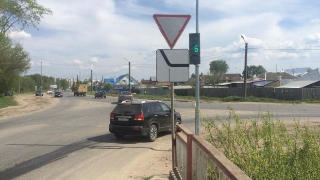 Новый светофор заработал на выезде из Йошкар-Олы по Санчурскому тракту