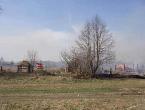 В деревне Кузьмино Юринского района произошел крупный пожар