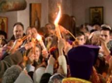Благодатный Огонь разойдётся по всем церквям Марий Эл