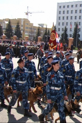 Парад воинских частей Йошкар-Олинского гарнизона, спортсменов постер