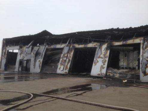 В Волжске сгорели 8 большегрузов