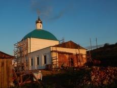 В Горномарийском районе продолжается восстановление Покровского храма
