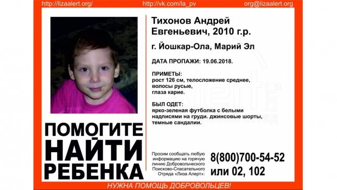 В Йошкар-Оле пропал 8-летний мальчик