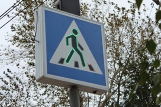 Жители Медведево первыми в республике оценят дорожный знак со светодиодной индикацией