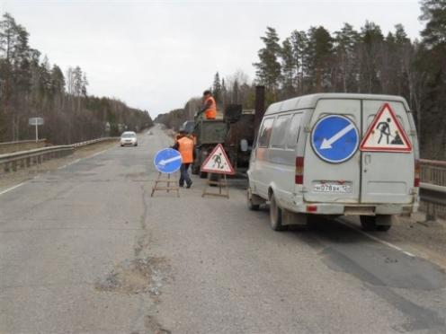 На дорогах республиканского значения начался «ямочный» ремонт