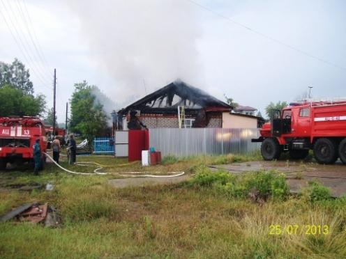 Гроза привела к очередному пожару в Марий Эл