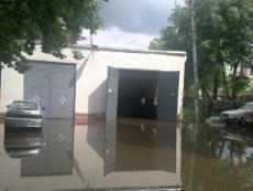 В поселке Медведево прошел сильный ливень с градом