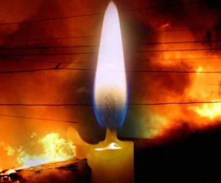 В Йошкар-Оле причиной пожара в квартире стала свеча