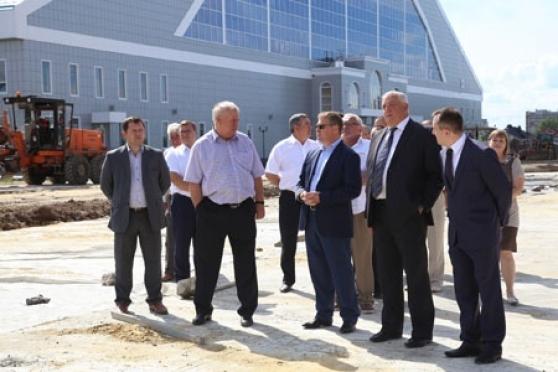 Леонид Маркелов побывал на строительстве новой дороги