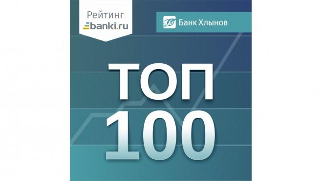 Среди 573 российских банков банк «Хлынов» в ТОП 100 сразу по нескольким показателям