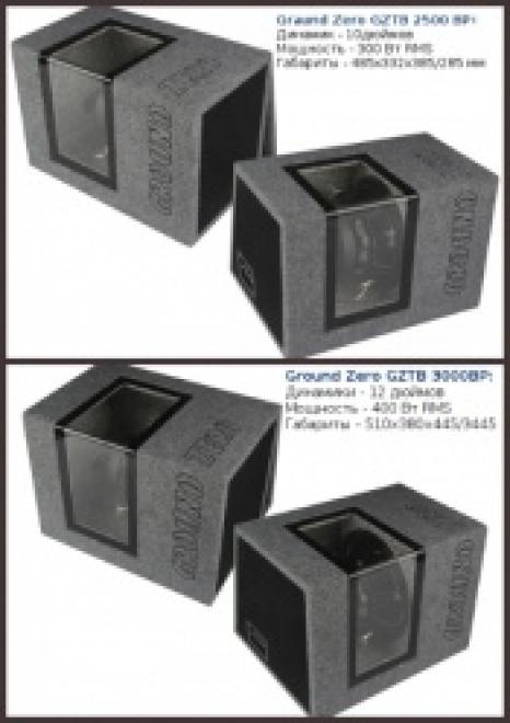 Новые сабвуферы Ground Zero Titanium в оформлении bandpass
