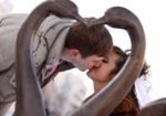 Почти в каждом фотоальбоме йошкаролинцев есть снимки со скульптурной композицией «Скамья Любви и Верности»