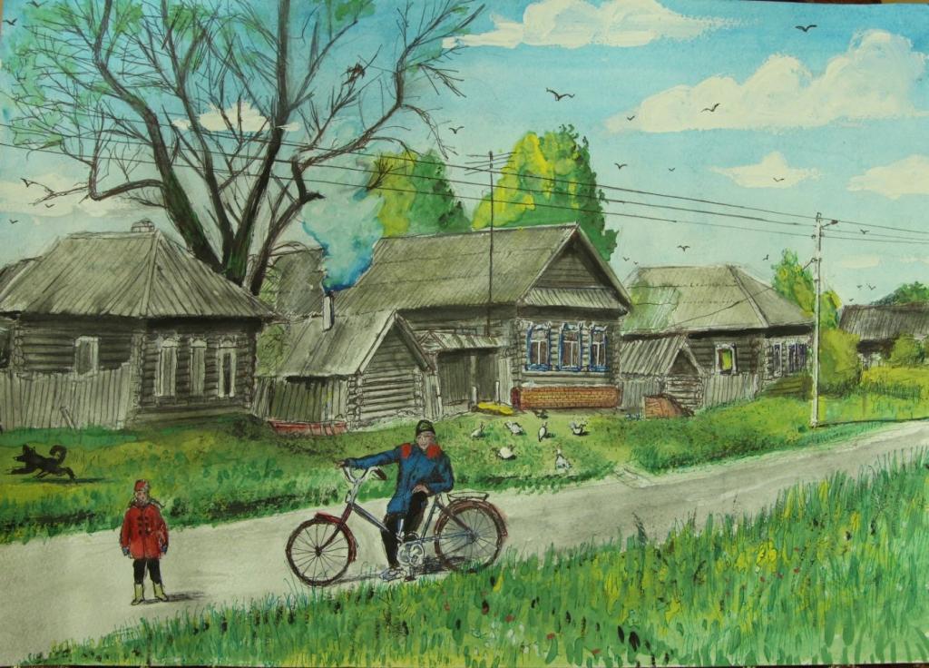 нажимаете деревенская улица картинки нарисовать фото
